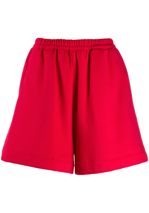 Styland plain basic track shorts - Red