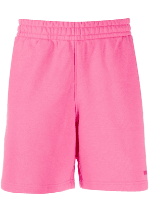 adidas by Pharrell Williams embroidered logo track shorts - PINK