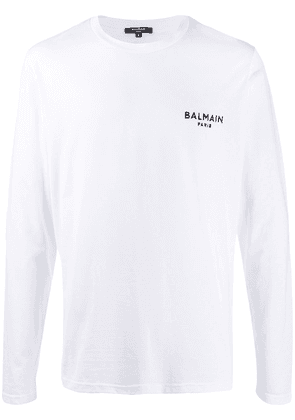 Balmain embroidered logo T-shirt - White