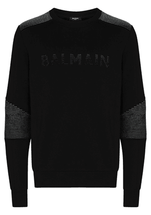 Balmain ribbed logo sweatshirt - Black