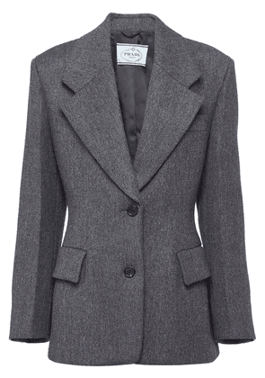 Prada single-breasted fitted jacket - Grey