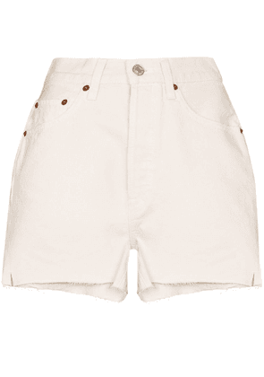 RE/DONE high-waist denim shorts - Neutrals
