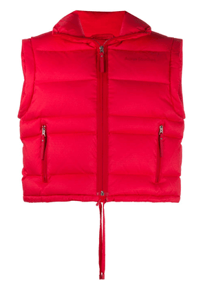 Acne Studios padded funnel neck gilet - Red
