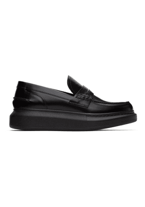 Alexander McQueen Black Leather Loafers