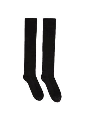 Rick Owens Black Performa FW20 Knee-High Socks