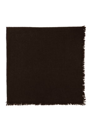 Rick Owens Brown Square Anona Scarf