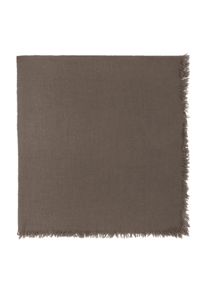 Rick Owens Taupe Square Anona Scarf