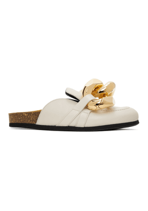 JW Anderson Off-White Nappa Curb Chain Slippers