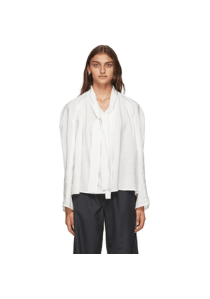 Lemaire White Silk Tie Blouse