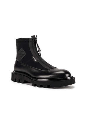 Givenchy Combat Boot With Zip in Black - Black. Size 40 (also in 41,42,43,44).