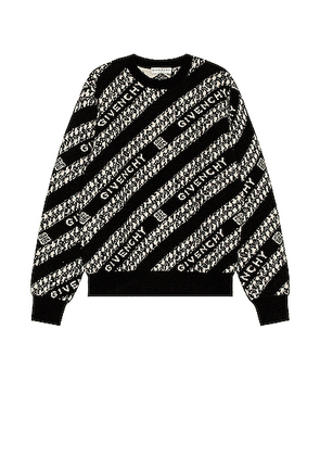 Givenchy Givenchy Chain Crew Neck Sweater in Black & White - Black,Stripes. Size L (also in M,S,XL).