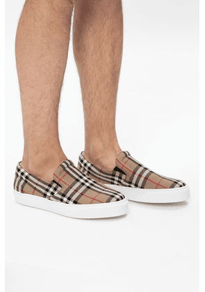 Burberry Patterned Slip-on Shoes Men's Multicolor