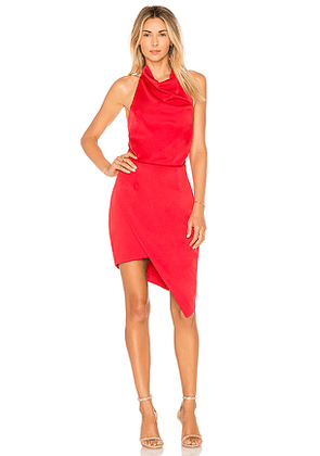ELLIATT x Revolve Camo Dress in Red. Size L.