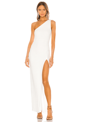 Michael Costello x REVOLVE Osanna Maxi Dress in White. Size M.