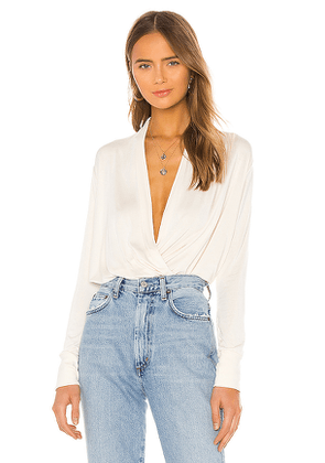 LA Made Victorie Top in Ivory. Size M.