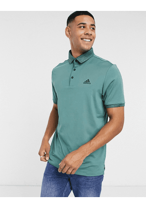 adidas Golf polo in green with logo