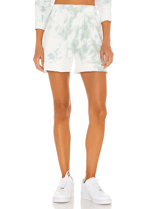 DANNIJO Tie Dye Shorts in Green. Size XS,M.