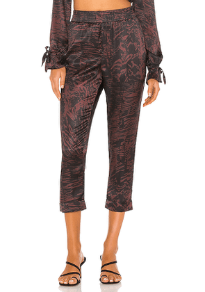 BEACH RIOT Avery Pant in Brown. Size M,S,XS.