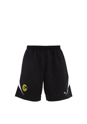 Balenciaga - Logo-embroidered Cotton-jersey Shorts - Mens - Black