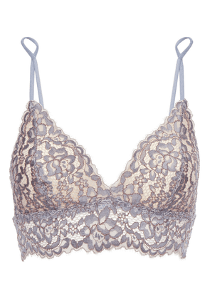 Cosabella Corded Lace Soft-cup Triangle Bra Woman Anthracite Size L