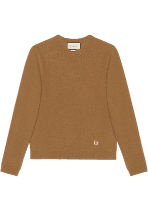 Gucci intarsia G knitted jumper - Brown