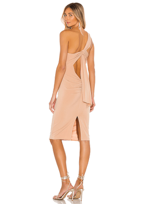 Katie May High Roller Dress in Beige. Size L.