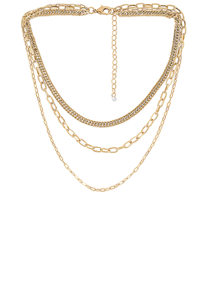 8 Other Reasons Cienega Necklace in Metallic Gold.