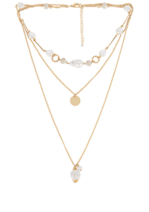 8 Other Reasons Just You Lariat in Metallic Gold.