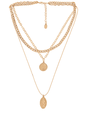 8 Other Reasons Sacred Necklace in Metallic Gold.