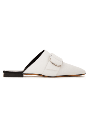 Iro Met Buckled Leather Mules Woman Ivory Size 41