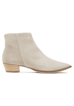 Iris & Ink Gemma Suede Ankle Boots Woman Light gray Size 39