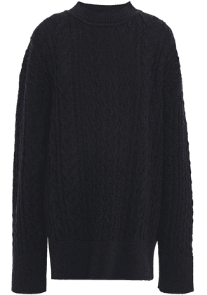 Jil Sander Cable-knit Wool Sweater Woman Navy Size XS