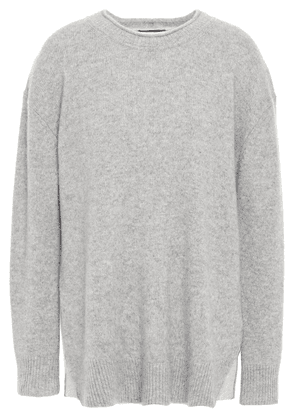 James Perse Cashmere And Jersey Sweater Woman Gray Size 0