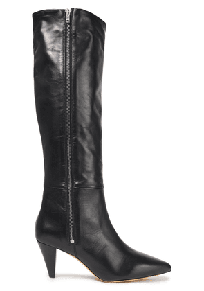 Iro Leather Knee Boots Woman Black Size 37