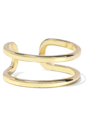 Iris & Ink Helena 18-karat Gold-plated Sterling Silver Ring Woman Gold Size 6