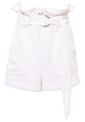 Iro Lux Belted Cotton Shorts Woman Ivory Size 40