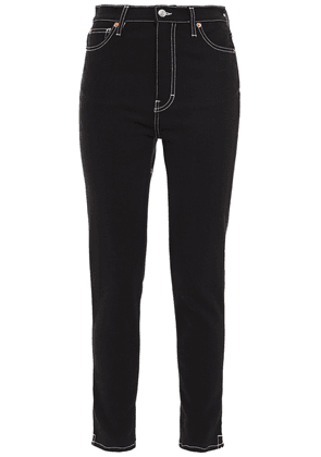 Iro Cropped High-rise Skinny Jeans Woman Black Size 26