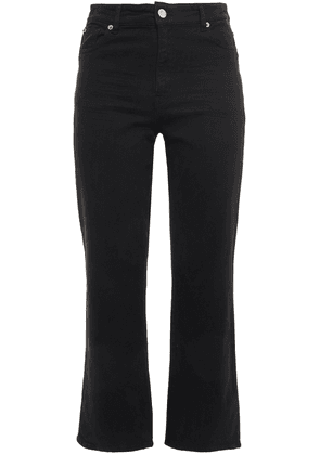 Iro Auxel Cropped High-rise Straight-leg Jeans Woman Black Size 25