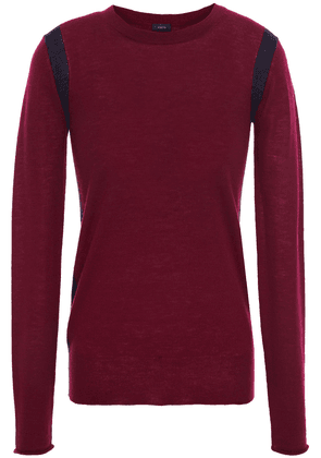 Joseph Two-tone Cashmere Sweater Woman Plum Size S