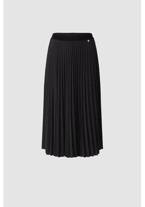 Rich & Royal Black Pleated Skirt