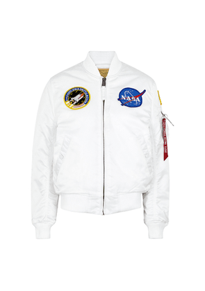 Alpha Industries MA1-VF NASA White Shell Bomber Jacket