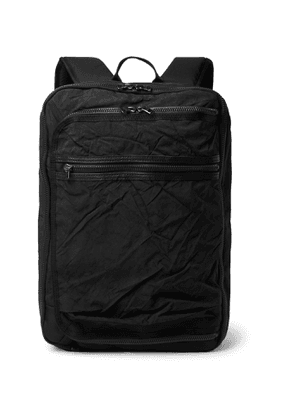 Master-Piece - Rebirth Project Leather-Trimmed Nylon and Canvas Backpack - Men - Black