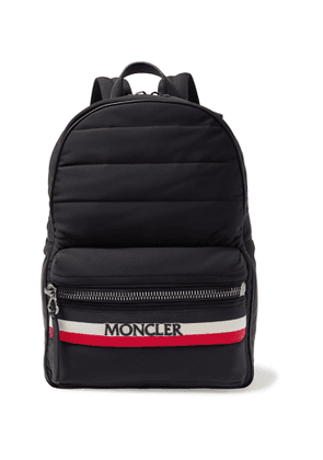 Moncler - New George Webbing and Leather-Trimmed Quilted Shell Backpack - Men - Black