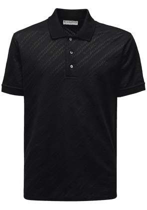 Logo Jacquard Viscose & Cotton Polo