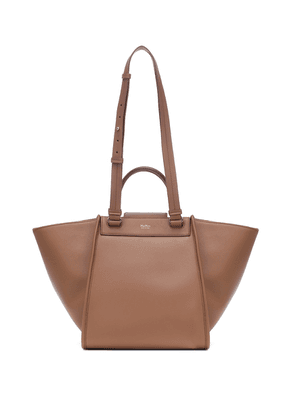 Reverl leather and cashmere tote