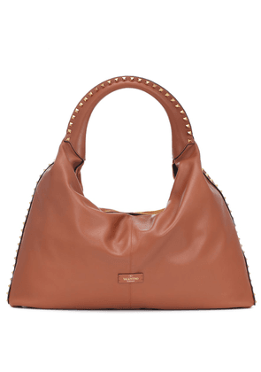 Valentino Garavani Rockstud Large leather and suede tote