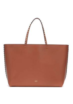Valentino Garavani Rockstud Medium leather and suede tote
