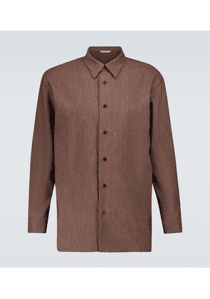 Wool and linen twill shirt