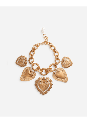 Dolce & Gabbana Bijoux - NECKLACE WITH SACRED HEART CHARMS GOLD female OneSize