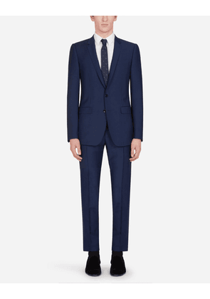 Dolce & Gabbana Suits - WOOL MARTINI-FIT SUIT BLUE male 48